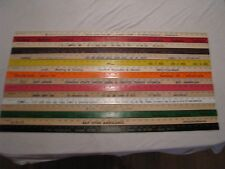 34 Yardstick Wood Wooden Ruler Lot Advertising Sign Color Art Craft Hobby Reclamevoorwerpen