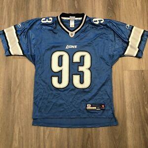 Kyle Vanden Bosch Detroit Lions NFL On Field Reebok Mens Medium Nylon Jersey