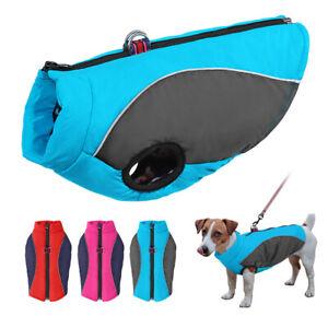 Dog Coats Waterproof Reflective Winter Fleece Jacket Bulldog Poodle Chihuahua XS