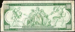 LARGE 1914 $100 DOLLAR KANSAS CITY FEDERAL RESERVE NOTE BIG PAPER MONEY Fr 1123