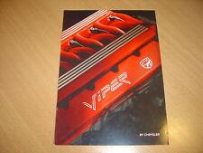 CATALOGUE Chrysler Viper de 1994