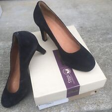 f9e506655600 Clarks Delsie Bliss Black Suede Dress Pump Heel 3.5