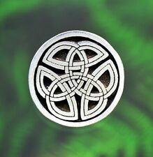 Celtic Trinity Knot Buttons | SET of TWO Buttons | Sewing Buttons in Fine Pewter