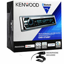 Kenwood KMR-D768BT Single DIN Bluetooth In-Dash CD/AM/FM Marine Stereo Receiver