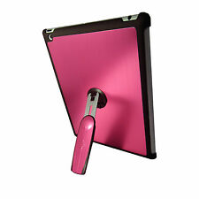 iPad 3 Pink Quality Aluminium Hard Back Case Cover With 360 Rotation Stand