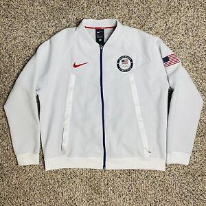 Nike USA 2020 Tokyo Olympics Media Day Full-Zip Jacket Size XL CK4567-100