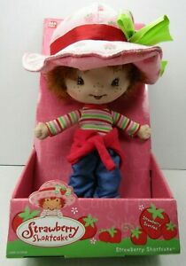 "STRAWBERRY SHORTCAKE  BERRY SOFT FRIENDS DOLL 11""  * BRAND NEW * BANDAI #15541"