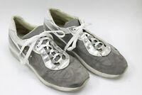 CESARE PACIOTTI  men shoes sz 10 Europe 44 gray canvas suede S7706