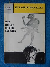 The Ballad Of The Sad Cafe - Martin Beck Theatre Playbill - December 2nd, 1963