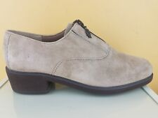 Hush Puppies Women's Tan Suede Leather Zip Up Casual Booties Size 7.5 M