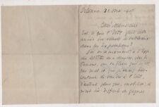 2 lettres de Georges d'Espagnat peintre, achat d'un tableau par l'Etat en 1915
