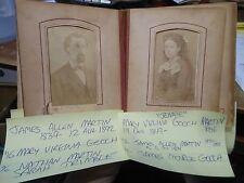 GOOCH MARTIN TONNER Family CDV Tintype Photo Album Red Oak Lawton Iowa Missouri
