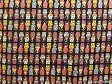 Fat Quarter Russian Dolls Baboushka Cotton Quilting Fabric  55cm x 50cm