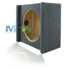10-Inch MDF SHALLOW-MOUNT CAR SUB WOOFER SPEAKER ENCLOSURE with DOWN-FIRE DESIGN