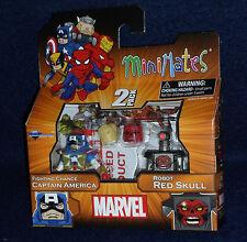 Marvel MiniMates Series 54 CAPTAIN AMERICA & ROBOT RED SKULL Action Figure 2 PK