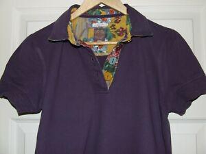 Women's Joules purple polo shirt size 14