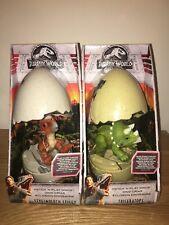Jurassic World Fallen Kingdom 2x Hatch & Play Dino's Action Figure Toy **NEW**