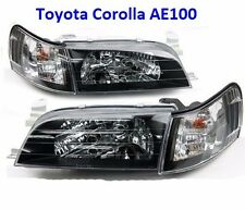 1-Pairs Front Crystal Black Face Head Light Lamp Corolla AE100 AE101 E100 Toyota