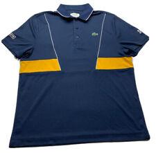 Lacoste Sport Novak Djokovic Polo short sleeve Navy Blue & Yellow Size 5 (US) L