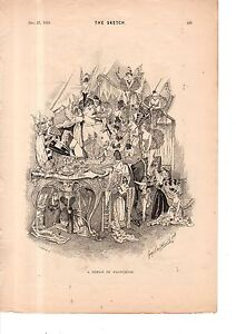 1893 A Dream of Pantomine and Fairies from The Sketch - Very Rare.