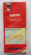 CARTE ROUTIERE  MICHELIN  EUROPE N° 970 - tourisme routes relief repertoire
