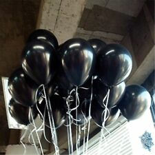 100pcs 10 inch Thickening Pearl Latex Wedding Birthday Party Black Balloon Gifts