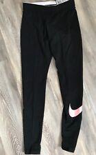 Nike Leggings S/P Schwarz mit Emblem In Pink