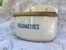 Ancien pot mural boîte à allumettes céramique Villeroy & Boch