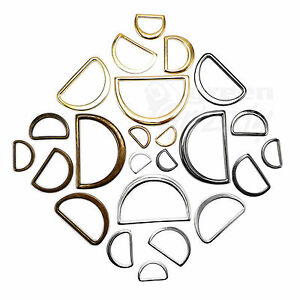Moulded solid cast flat D rings buckles for webbing not Wire Various Sizes