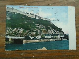 QUEBEC , CITADEL from HARBOUR 1908  POSTCARD