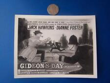 Gideon's Day -  Photographic Film Poster Advert - 4.5 x 6 inch aprox