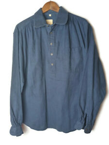 Wah Maker Yuma Frontier Clothing Men's Size Large Blue Paisley LS Shirt Vintage