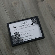 50-Personalised Floral RSVP cards,Wishing well cards,Wedding invitation cards