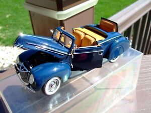 Franklin Mint 1/24th Scale 1939 Ford Deluxe Convertible--VERY NICE--