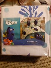 Disney PIXAR Finding Dory Nemo Full Kids Bed Sheet Set 4 Piece Polyester NEW