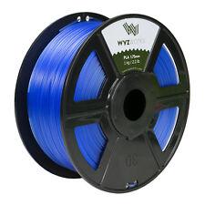 Translucent Blue PLA 1.75mm WYZworks 3D Printer Premium Filament 1kg/2.2lb