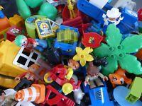 LEGO DUPLO 80 Steine Autos Figuren Tiere Sondersteine Fahrzeuge Konvolut Starter