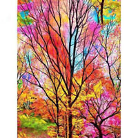DIY 5D Colorful Tree Diamond Painting Full Drill Embroidery Kits Art Wall DIY