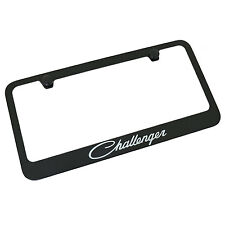 Dodge Challenger Black Metal License Plate Frame