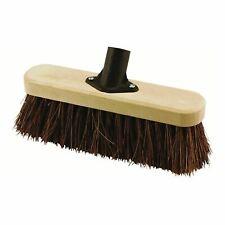More details for elliott broom head natural bassine fibre brown garden cleaning sweeping 25cm