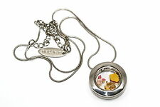BRACCIALE DISNEY ROUND LOCKET NECKLACE FLOATING POOH TIGGER FLOATING CHARMS