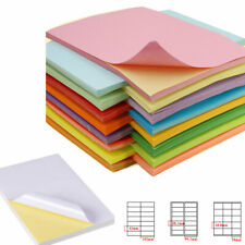 Print Label Self Adhesive Stick Sticker Label Printing Color A4 Paper Sheet Lot