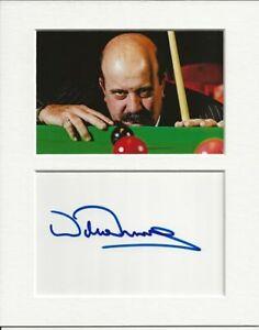 Willie Thorne snooker genuine authentic autograph signature and photo AFTAL COA