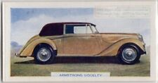 English Armstrong Siddeley Hurricane Drophead Coupe Auto c70 Y/OTrade Ad Card