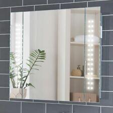 650x600mm Rowan LED Illuminated Bathroom Mirror Cabinet | Shaver Socket