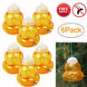 Lots Hanging Wasp Trap Non-toxic Yellowjacket No Chemicals Bee Catcher -6 Tunnel