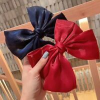 Girl Velvet Bow Hairpin Spring Clip Hair Clip Accessories Versatile
