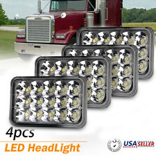 "4pcs 4""x6"" LED Clear Headlights Sealed Beam DRL for Freightliner FLD120 112 FLD"