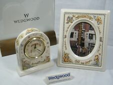 """Wedgwood """" Rambling Ted """" Mantle Clock/Bedside with matching Picture Frame !!!!."""