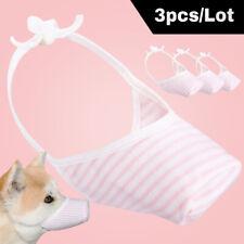 3pcs/lot Pet Dog Muzzles Anti Bark Stop Bite Grooming Safety Cover Small Medium